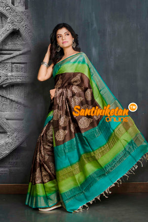 Hand Painted Tussar Silk SN20208963