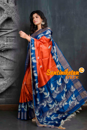 Hand Painted Tussar Silk SN20208969