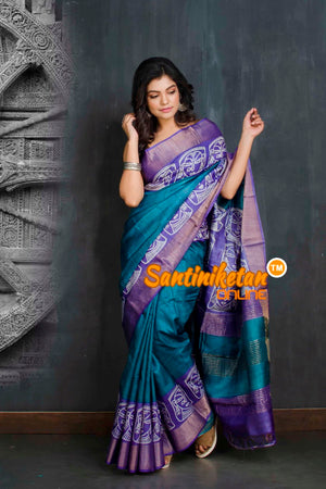 Hand Painted Tussar Silk SN20208981