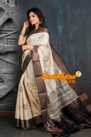 Hand Painted Tussar Silk SN20209002