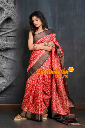 Hand Painted Tussar Silk SN20209005