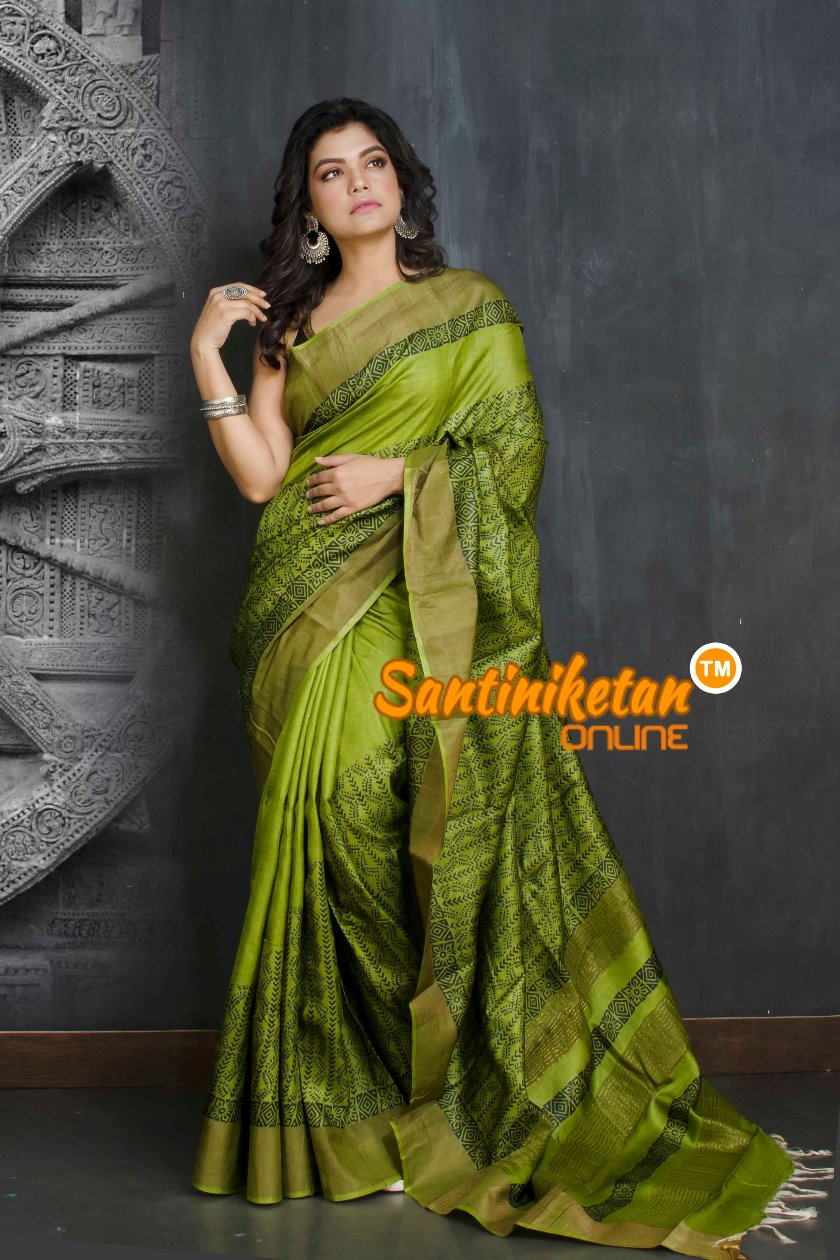 Hand Painted Tussar Silk SN20209008