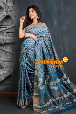 Hand Painted Tussar Silk SN20209035