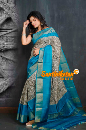 Hand Painted Tussar Silk SN20209038