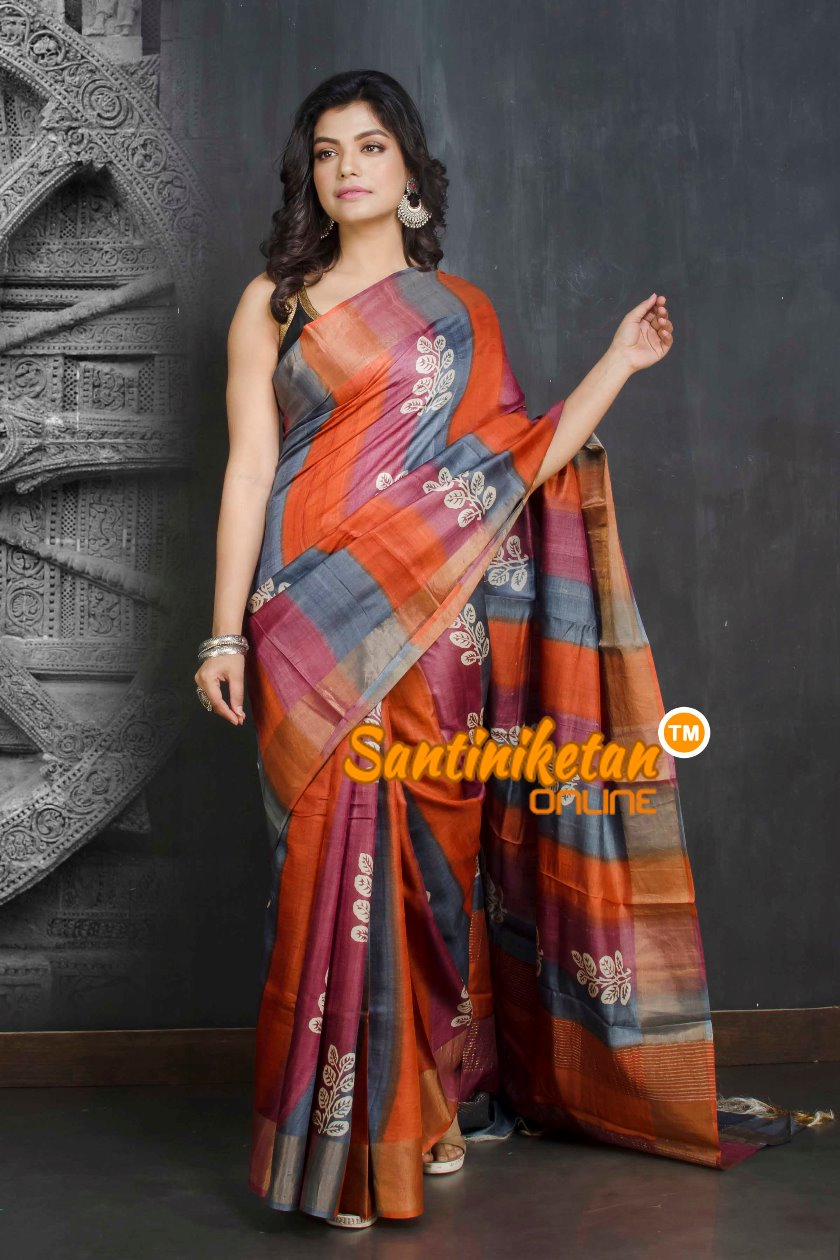 Hand Painted Tussar Silk SN20209041