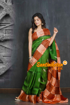 Hand Block On Murshidabad Silk SN20209044