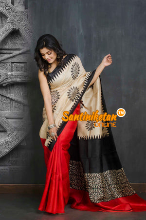 Hand Block On Murshidabad Silk SN20209047