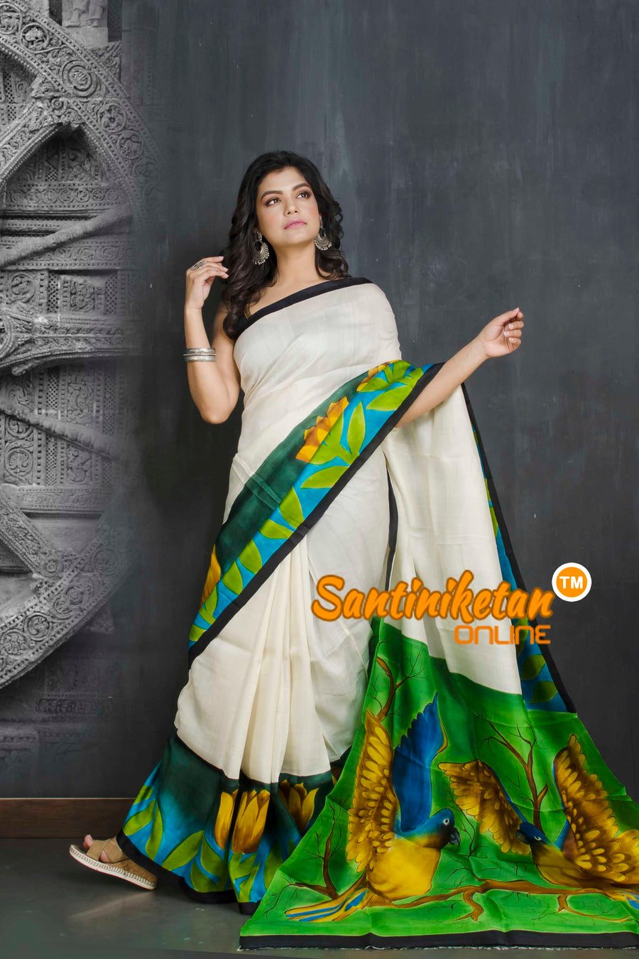 Hand Made Design On Murshidabad Silk SN20209050