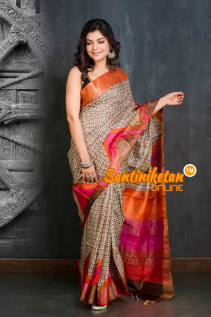 Hand Painted Tussar Silk SN20209053