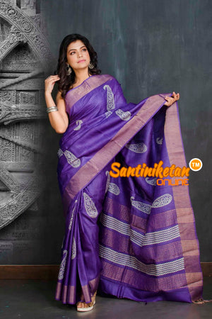 Hand Painted Tussar Silk SN20209056