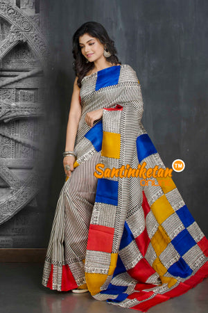 Hand Block On Murshidabad Silk SN20209069