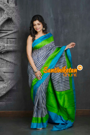 Hand Block On Murshidabad Silk SN20209072