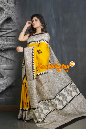 Hand Block On Murshidabad Silk SN20209084