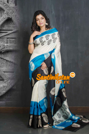 Hand Block On Murshidabad Silk SN20209087