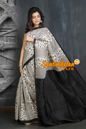 Hand Block On Murshidabad Silk SN20209096
