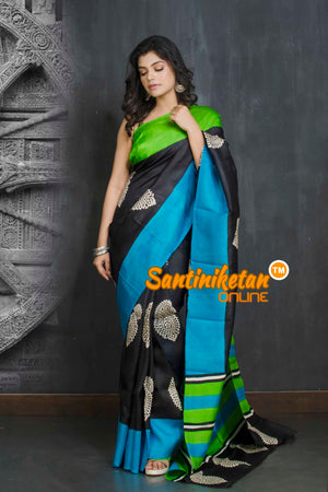Hand Block On Murshidabad Silk SN20209099
