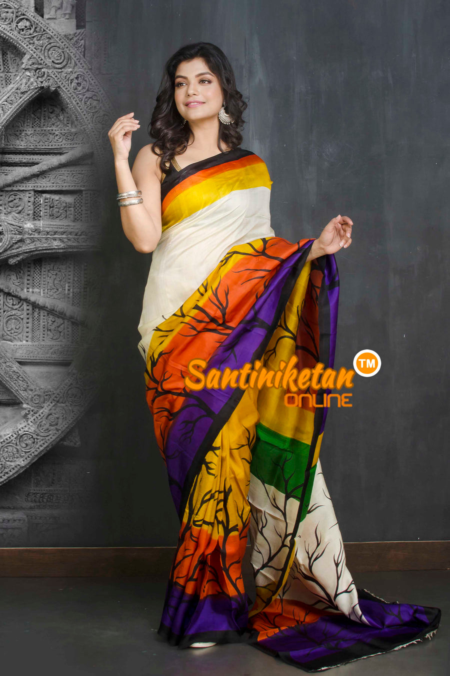 Hand Made Design On Murshidabad Silk SN20209116