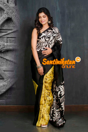 Hand Batik On Murshidabad Silk SN20209131