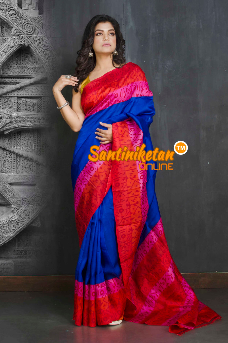 Hand Block On Murshidabad Silk SN20209143