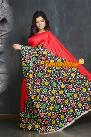 Hand Block On Murshidabad Silk SN20209146
