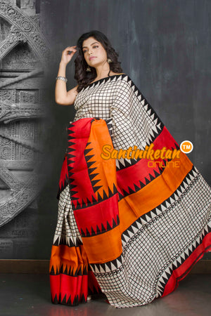 Hand Block On Murshidabad Silk SN20209149