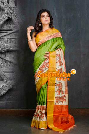 Hand Painted Tussar Silk SN20209170