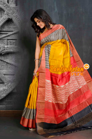 Hand Painted Tussar Silk SN20209176