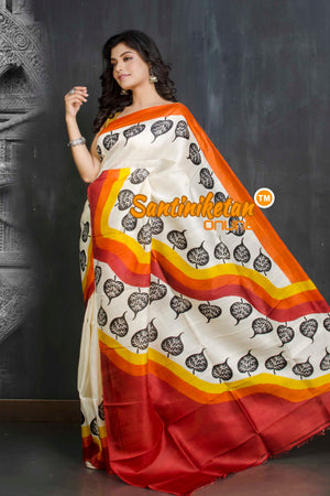Hand Block On Murshidabad Silk SN20209197