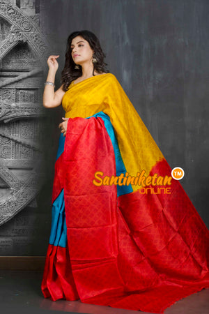 Hand Block On Murshidabad Silk SN20209207