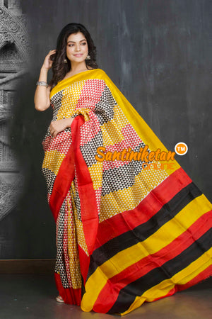 Hand Block On Murshidabad Silk SN20209213