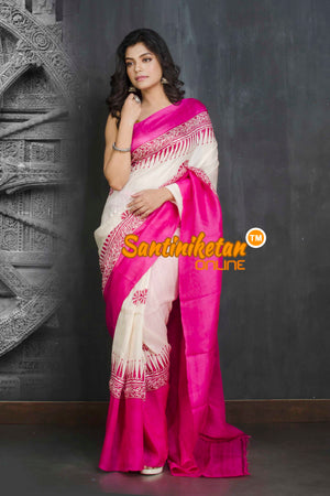 Hand Block On Murshidabad Silk SN20209228