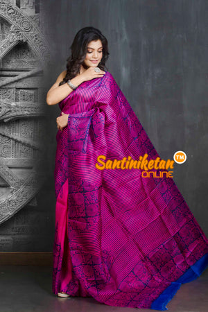 Hand Block On Murshidabad Silk SN20209245