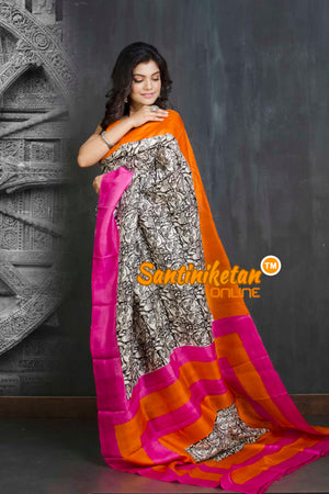 Hand Block On Murshidabad Silk SN20209252