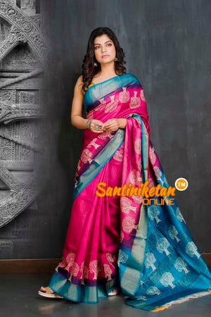 Hand Painted Tussar Silk SN20209258