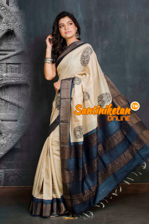 Hand Painted Tussar Silk SN20209274