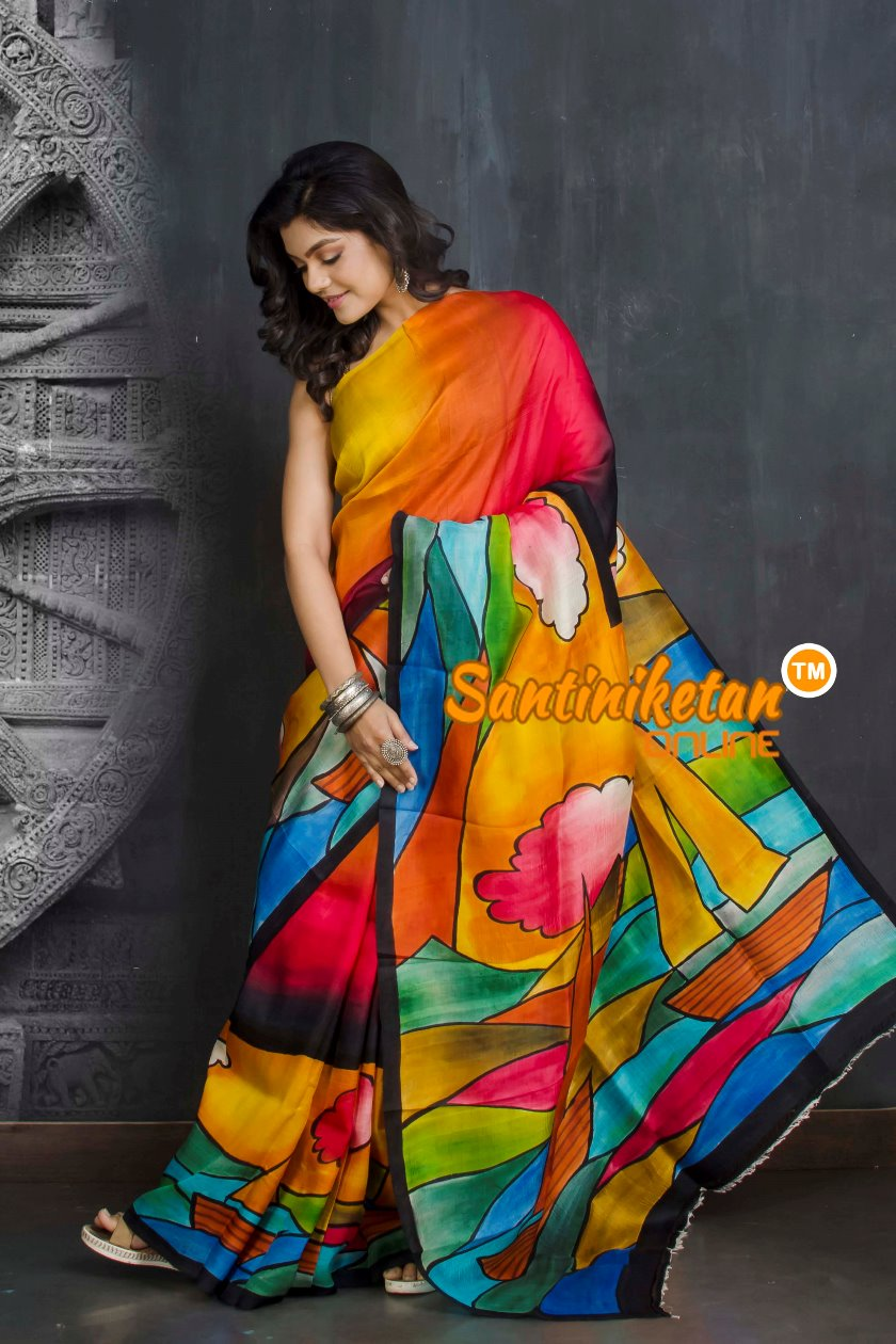 Hand Made Design On Murshidabad Silk SN20209280