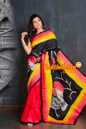 Hand Made Design On Murshidabad Silk SN20209289