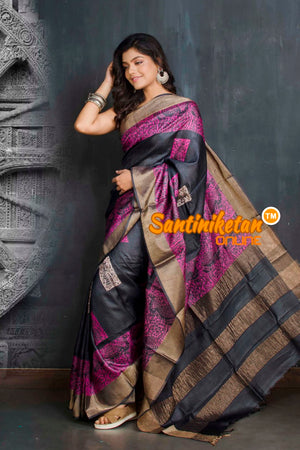 Hand Painted Tussar Silk SN20209311
