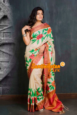 Hand Painted Tussar Silk SN20209317