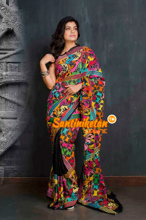 Kantha Stitch Saree SN20209337