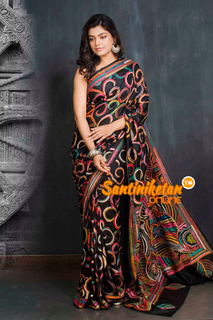 Kantha Stitch Saree SN20209385