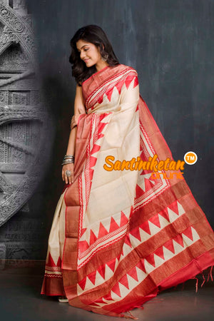 Hand Painted Tussar Silk SN20209528