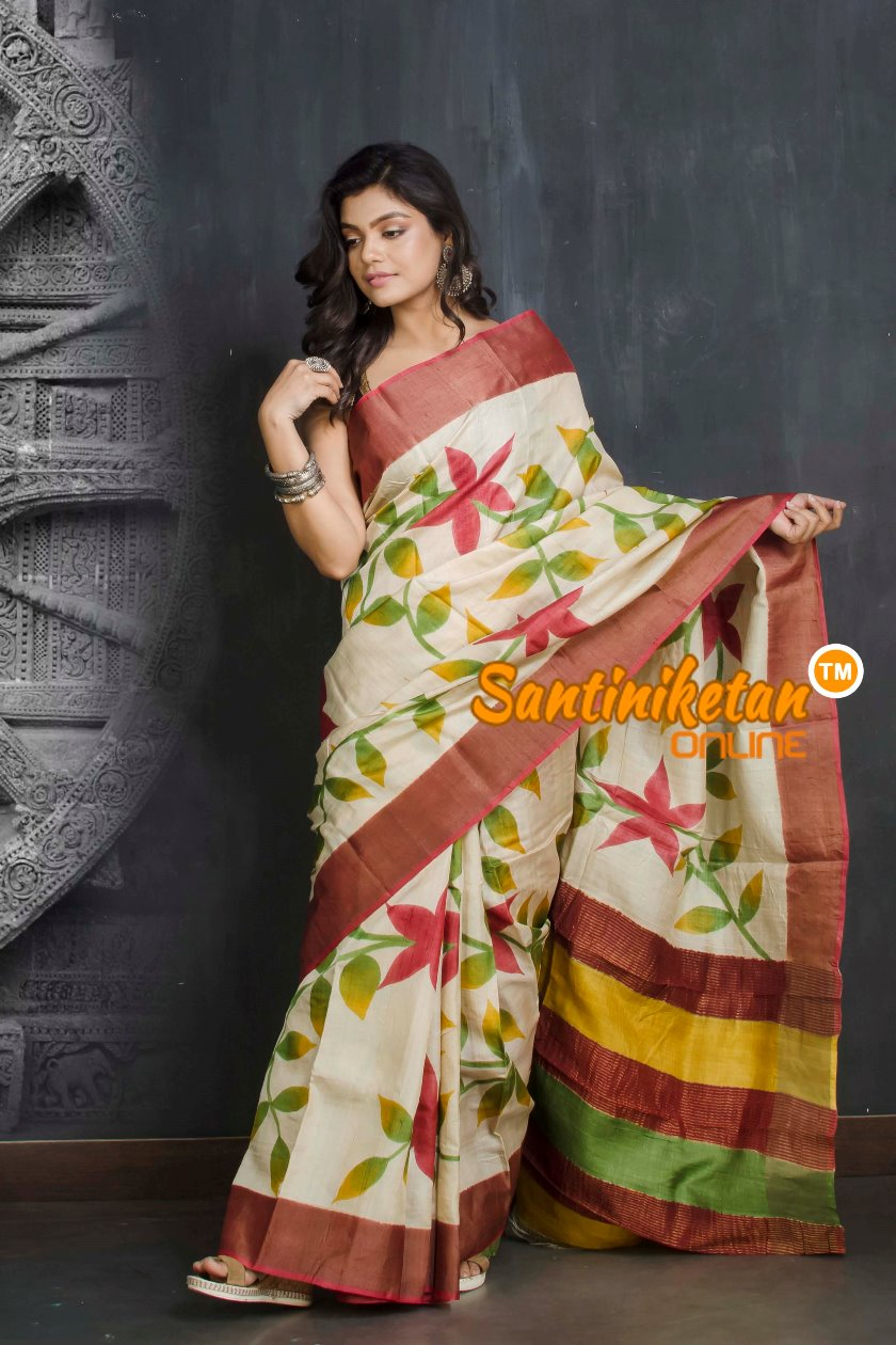 Hand Painted Tussar Silk SN20209531