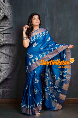 Hand Painted Tussar Silk SN20209534