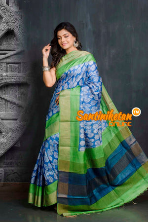 Hand Painted Tussar Silk SN20209538