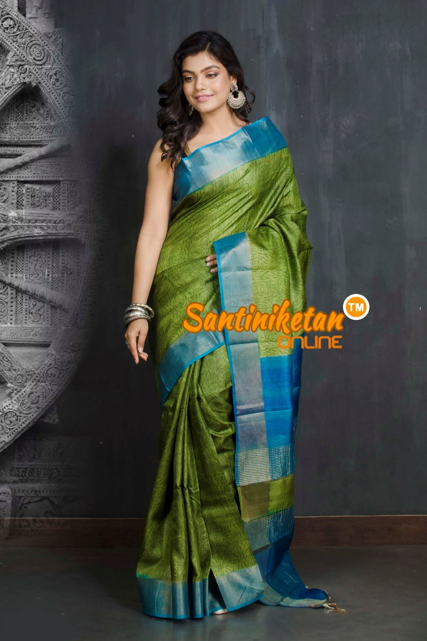 Hand Painted Tussar Silk SN20209541