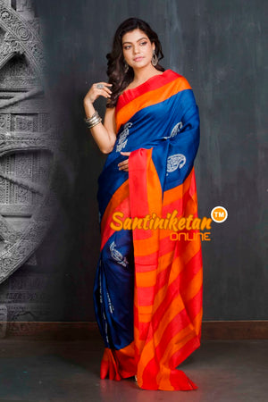 Hand Block On Murshidabad Silk SN20209544