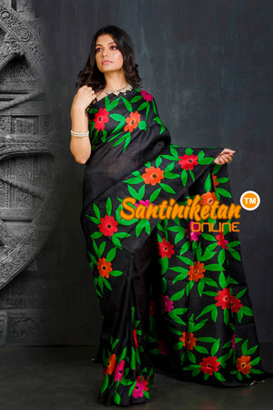 Hand Made Design On Murshidabad Silk SN20201874
