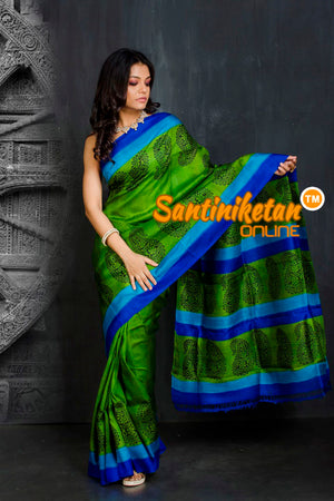 Hand Block On Murshidabad Silk SN20201877