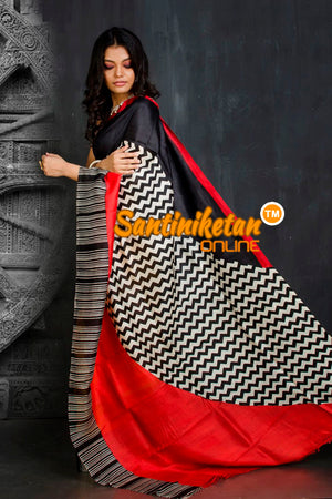 Hand Block On Murshidabad Silk SN20201883
